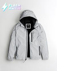 Hollister Flash Reactive Fleece-lined Jacket - Grey