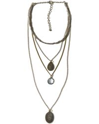 Hollister | Layered Charm Necklace | Lyst