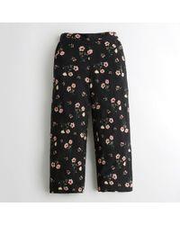 Hollister - Girls Wide-leg Crop Pants From Hollister - Lyst