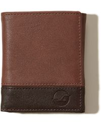 Hollister - Vegan Leather Trifold Wallet - Lyst