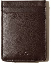 Hollister - Leather Money Clip Card Holder - Lyst