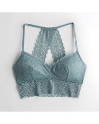 78be67d3599ca Hollister - Girls Lace Longline Bralette With Removable Pads From Hollister  - Lyst
