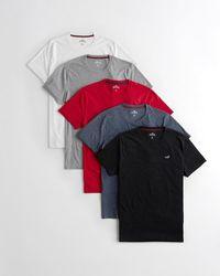Hollister Must-have Crewneck T-shirt 5-pack - Multicolour