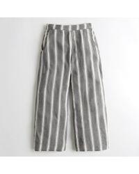 Hollister - Girls Crop Wide-leg Woven Pants From Hollister - Lyst