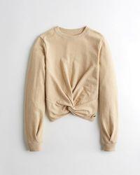 Hollister - Twist-front Sweatshirt - Lyst