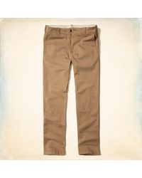 Hollister - Guys Epic Flex Classic Straight Chino Pants From Hollister - Lyst