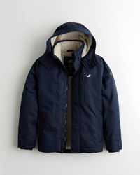 Hollister Sherpa-lined Jacket - Blue