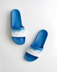 Hollister Logo Slide Sandal - Blue