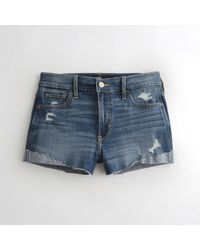 Hollister - Girls Advanced Stretch High-rise Denim Short-shorts From Hollister - Lyst
