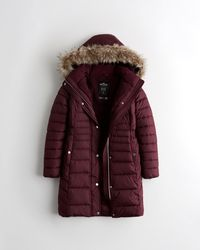 Hollister Sherpa-lined Puffer Parka - Multicolour