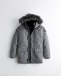 Hollister Faux-fur-lined Parka - Grey