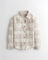 Hollister Oversized-Hemdjacke aus Flanell - Mehrfarbig