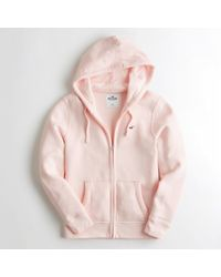 Hollister - Girls Sherpa-lined Full-zip Hoodie From Hollister - Lyst