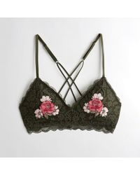2db7dcae97ba9 Hollister - Girls Embroidered Triangle Bralette With Removable Pads From  Hollister - Lyst