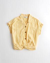 Hollister - Twist-front Shirt - Lyst