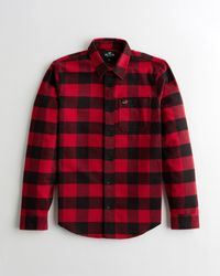 Hollister Flannel Shirt - Red