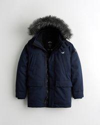 Hollister Sherpa-lined Parka - Blue