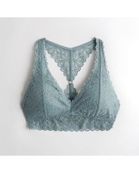 34ec4bb95f Hollister - Girls Lace Racerback Bralette With Removable Pads From Hollister  - Lyst