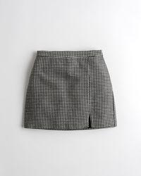Hollister Ultra High-rise Houndstooth Mini Skirt - Black