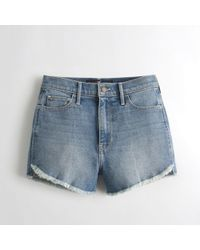 Hollister - Girls Vintage Stretch Ultra High-rise Denim Short-shorts From Hollister - Lyst