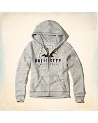Hollister - Logo Graphic Hoodie - Lyst