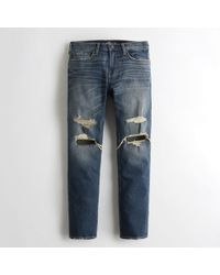 Hollister - Guys Vintage Stretch Slim Straight Jeans From Hollister - Lyst
