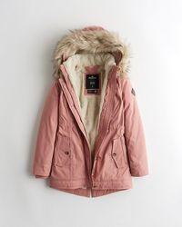 Hollister Cozy-lined Parka - Pink