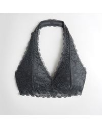 d94c4d1800d Hollister - Girls Gilly Hicks Everything Lace Halter Bralette With Removable  Pads From Hollister - Lyst