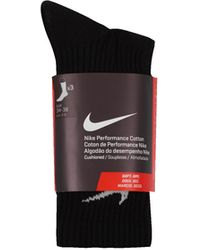 Nike Cotton Crew Socks - Nero