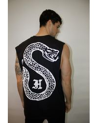 Honour Snake Black Sleeveless
