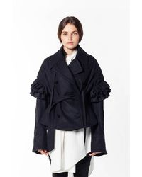 Ann Demeulemeester Embroidered Jacket - Black
