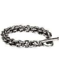Henson Small Cage Link Chain Bracelet - Black