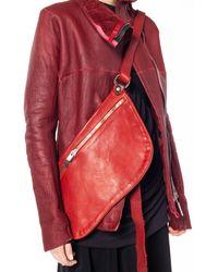 Guidi Q10m Soft Horse Bag - Red