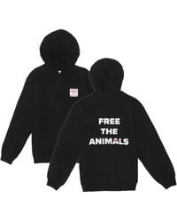 House of Fluff Free The Animalstm Black Logo Hoodie