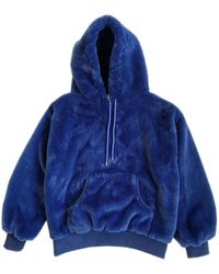 House of Fluff 100% Recycled Teddy Hoodie - Marine Blue