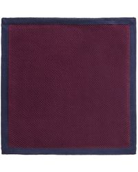 Gibson - Burgundy With Navy Trim Knitted Hankie - Lyst