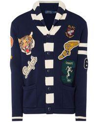 Polo Ralph Lauren Badge Shawl Cardigan - Blue
