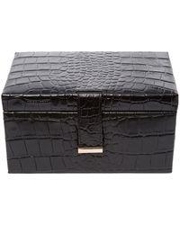 Biba Mock Croc Jewellery Box - Black