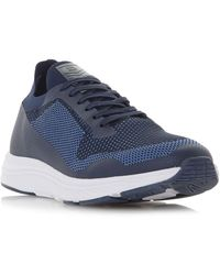 Dune Tuscan Chunky Sole Lace Up Trainers - Blue
