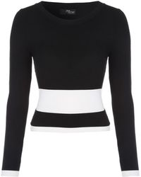 Jane Norman | Monochrome Contrast Co-ord Jumper | Lyst