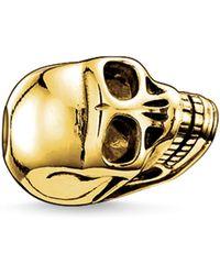 Thomas Sabo - Yellow Gold Skull Karma Bead - Lyst