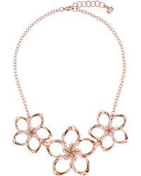 Ted Baker - Bluum Rose Gold Crystal Blossom Necklace - Lyst