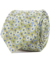 Double Two Luxury Floral Polyester Tie - Green