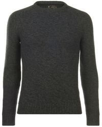 Label Lab Label Hulme Twisted Cotton Jumper - Grey