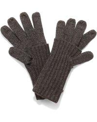 Phase Eight Vanna Fold Over Gloves - Grey