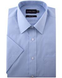 Double Two - Classic Plain Short-sleeve Shirt - Lyst