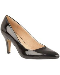 Lotus - Holly Womens Court Shoes Women's Court Shoes In Black - Lyst