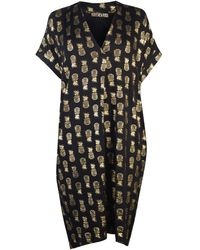 Biba Pineapple Tunic Dress - Black