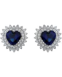 Mikey - Filigree Heart Cubic Centredropearring - Lyst