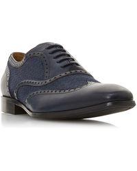 Dune Men's 'sooke' Woven Brogue Shoes - Blue
